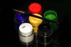 Набор краски стороны Стоковые Фото