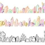 Набор кристаллов вектора иллюстрация вектора