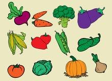 Набор овощей бесплатная иллюстрация
