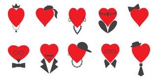Набор сердец людей и женщин бесплатная иллюстрация