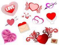 набор сердец Стоковые Изображения