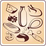 Набор символов продукта иллюстрация штока
