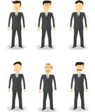 Набор символов бизнесмена стоковые изображения rf