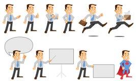 Набор символов бизнесмена иллюстрация штока
