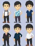 Набор символов молодого человека Стоковые Изображения RF