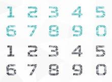 Набор символов полигона геометрический, вектор полигона геометрический, вектор алфавита установленный Стоковое фото RF
