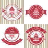Набор символов с рождественской елкой Стоковая Фотография RF