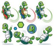Набор символов черепахи шаржа Стоковое Изображение RF