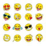 Набор сторон emoji иллюстрация штока