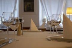 Набор таблицы ресторана стоковые фотографии rf