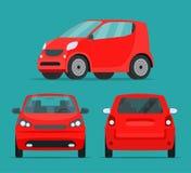 Набор угла автомобиля 2 компактного города иллюстрация вектора
