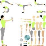 Набор фитнеса стоковая фотография rf