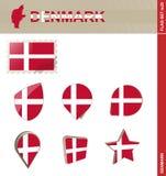 Набор флага Дании, набор #25 флага бесплатная иллюстрация