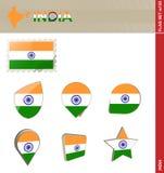 Набор флага Индии, набор #155 флага иллюстрация вектора
