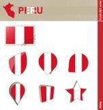 Набор флага Перу, набор #104 флага бесплатная иллюстрация