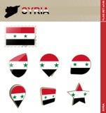 Набор флага Сирии, набор #146 флага иллюстрация штока