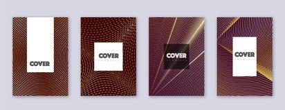 Набор шаблона дизайна брошюры хипстера Abstrac золота бесплатная иллюстрация