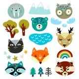 Набор элементов детей Стороны руки дикого животного вычерченные бесплатная иллюстрация