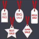 Набор ярлыков продажи бесплатная иллюстрация
