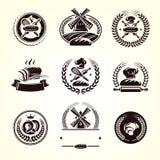 Набор ярлыков хлеба Хлеб значка собрания вектор бесплатная иллюстрация