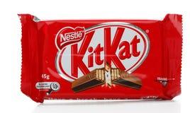набор kat шоколада штанги устраивается удобно Стоковая Фотография