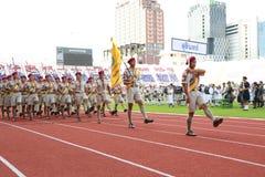 Наблюдает ежегодный парад национального праздника Стоковое Изображение RF
