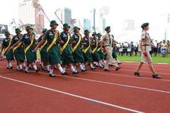 Наблюдает ежегодный парад национального праздника Стоковая Фотография