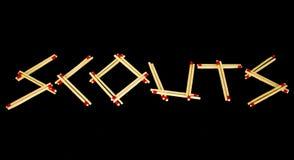 ` Наблюдает ` сказанное по буквам с спичками, от стороны Стоковые Фото