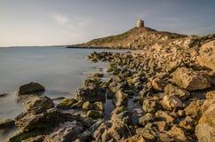 Наблюдайте башню, плащу-накидк St. Marco, Сардинию Стоковые Фотографии RF