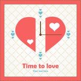 Наблюдайте мой смысл о влюбленности на день валентинки. Стоковое фото RF