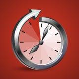 Наблюдайте стрелку которая показывает безграничность времени иллюстрация штока