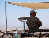 Наблюдатель ООН UNDOF на держателе Bental, Израиле Стоковые Фотографии RF