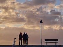наблюдать захода солнца Стоковые Фото