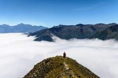 Наблюдать море облаков Стоковые Изображения RF