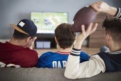наблюдать футбольной игры стоковое изображение rf