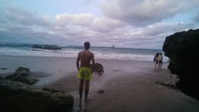 наблюдая волны Стоковые Фотографии RF
