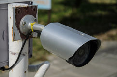 наблюдение обеспеченностью cctv камеры Стоковое Фото