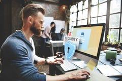 Наблюдение Concep сети передачи данных пароля доступа системы безопасности стоковое фото