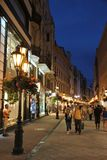 наведите панораму дворца ночи budapest цепную danube королевскую Стоковое Изображение