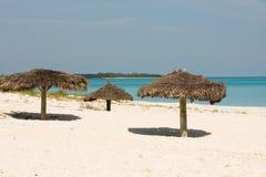 навесы пляжа Стоковое Изображение RF