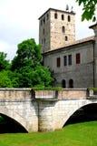 Наведите водить в малую деревню Portobuffolè в провинции Тревизо в венето (Италия) Стоковое фото RF