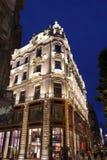 наведите панораму дворца ночи budapest цепную danube королевскую Стоковые Изображения