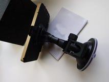 Навигатор автомобиля маршрута Установленный внутри автомобиля, деталей и конца-вверх стоковое изображение