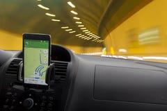 Навигатор автомобиля стоковое фото