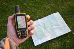 Навигатор в руке стоковые изображения rf