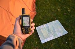 Навигатор в руке стоковые фотографии rf