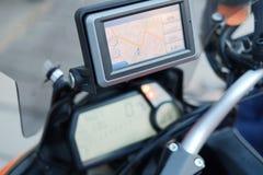 Навигатор gps перемещения мотоцикла Стоковая Фотография RF