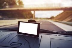 Навигация автомобиля GPS с пустым экраном как космос экземпляра Стоковые Изображения RF