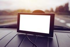 Навигация автомобиля GPS с пустым экраном как космос экземпляра Стоковое Изображение RF