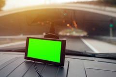 Навигация автомобиля GPS с пустым экраном как космос экземпляра Стоковое Фото